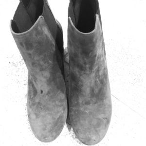 Aristotle Gray Ankle Boots